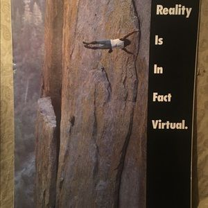 No Fear Virtual Reality Poster - New/Sealed